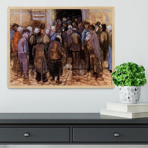 The poor and money by Van Gogh Framed Print - Canvas Art Rocks - 4