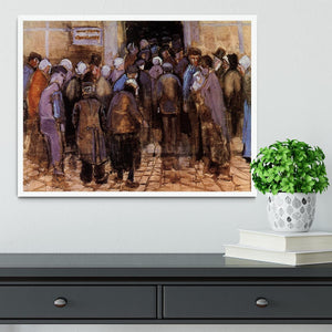 The poor and money by Van Gogh Framed Print - Canvas Art Rocks -6