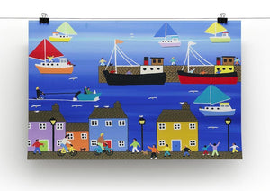 The puffer boats are in port by Gordon Barker Canvas Print or Poster - Canvas Art Rocks - 2