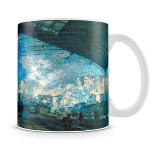 The station Saint Lazare by Monet Mug - Canvas Art Rocks - 4