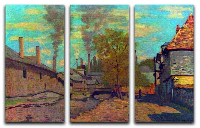 The stream of Robec by Claude Monet Split Panel Canvas Print
