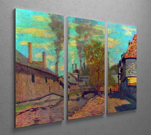 The stream of Robec by Claude Monet Split Panel Canvas Print - Canvas Art Rocks - 4
