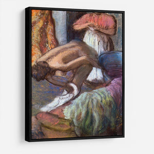 The strengthening after the bathwater by Degas HD Metal Print - Canvas Art Rocks - 6