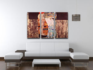 The three ages of a woman by Klimt 3 Split Panel Canvas Print - Canvas Art Rocks - 3