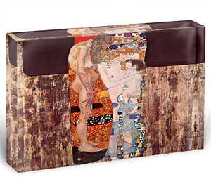 The three ages of a woman by Klimt Acrylic Block - Canvas Art Rocks - 1
