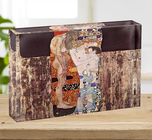 The three ages of a woman by Klimt Acrylic Block - Canvas Art Rocks - 2