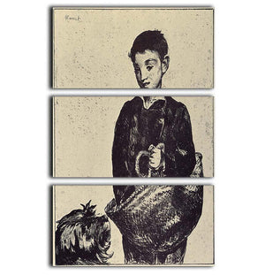 The urchin by Manet 3 Split Panel Canvas Print - Canvas Art Rocks - 1