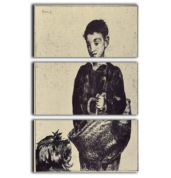 The urchin by Manet 3 Split Panel Canvas Print