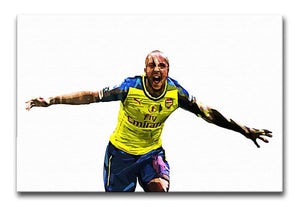 Theo Walcott Cup Final Goal Print - Canvas Art Rocks - 1