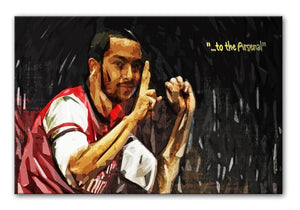Theo Walcott 2-0 to the Arsenal Print - Canvas Art Rocks - 1