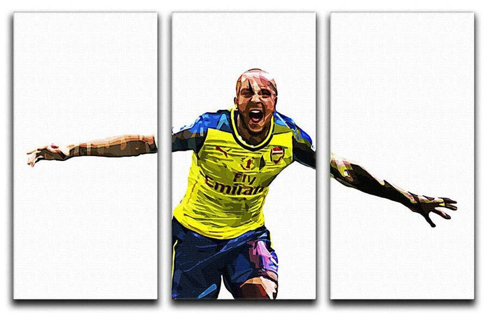 Theo Walcott Cup Final Goal 3 Split Panel Canvas Print