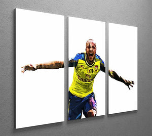 Theo Walcott Cup Final Goal 3 Split Panel Canvas Print - Canvas Art Rocks - 2