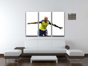 Theo Walcott Cup Final Goal 3 Split Panel Canvas Print - Canvas Art Rocks - 3