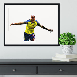 Theo Walcott Cup Final Goal Framed Print - Canvas Art Rocks - 1