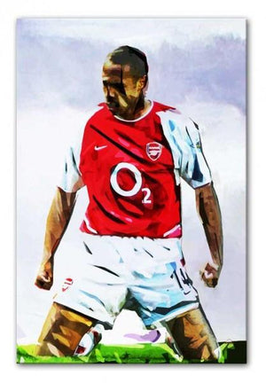 Thierry Henry Kneeslide Print - Canvas Art Rocks - 1