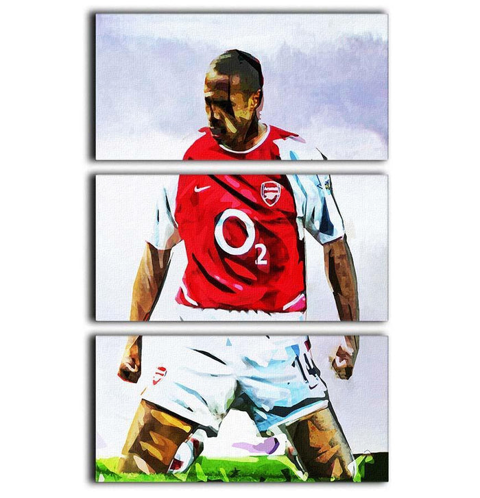 Thierry Henry Kneeslide 3 Split Panel Canvas Print