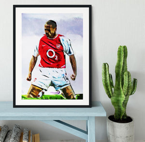 Thierry Henry Kneeslide Framed Print - Canvas Art Rocks - 1