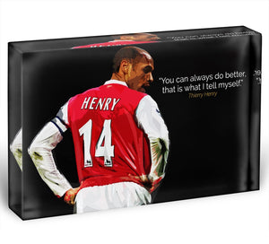 Thierry Henry You Can Alway Do Better Acrylic Block - Canvas Art Rocks - 1