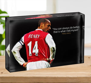 Thierry Henry You Can Alway Do Better Acrylic Block - Canvas Art Rocks - 2