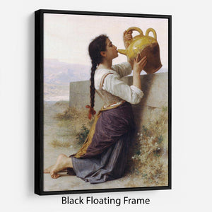 Thirst By Bouguereau Floating Frame Canvas