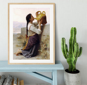 Thirst By Bouguereau Framed Print - Canvas Art Rocks - 3