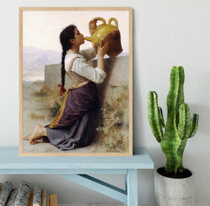 Thirst By Bouguereau Framed Print - Canvas Art Rocks - 4