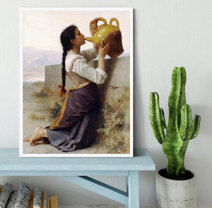Thirst By Bouguereau Framed Print - Canvas Art Rocks -6