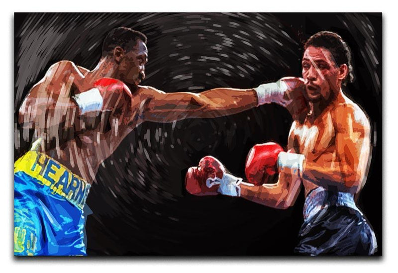 Thomas Hearns vs Virgil Hill Canvas Print & Poster - Canvas Art Rocks