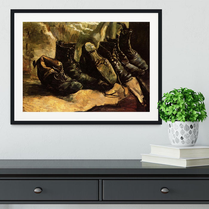 Three Pairs of Shoes by Van Gogh Framed Print
