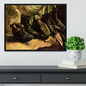 Three Pairs of Shoes by Van Gogh Framed Print - Canvas Art Rocks - 2