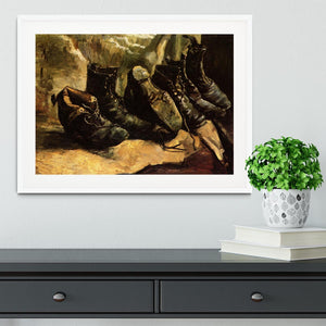 Three Pairs of Shoes by Van Gogh Framed Print - Canvas Art Rocks - 5