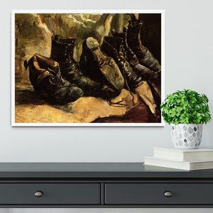 Three Pairs of Shoes by Van Gogh Framed Print - Canvas Art Rocks -6
