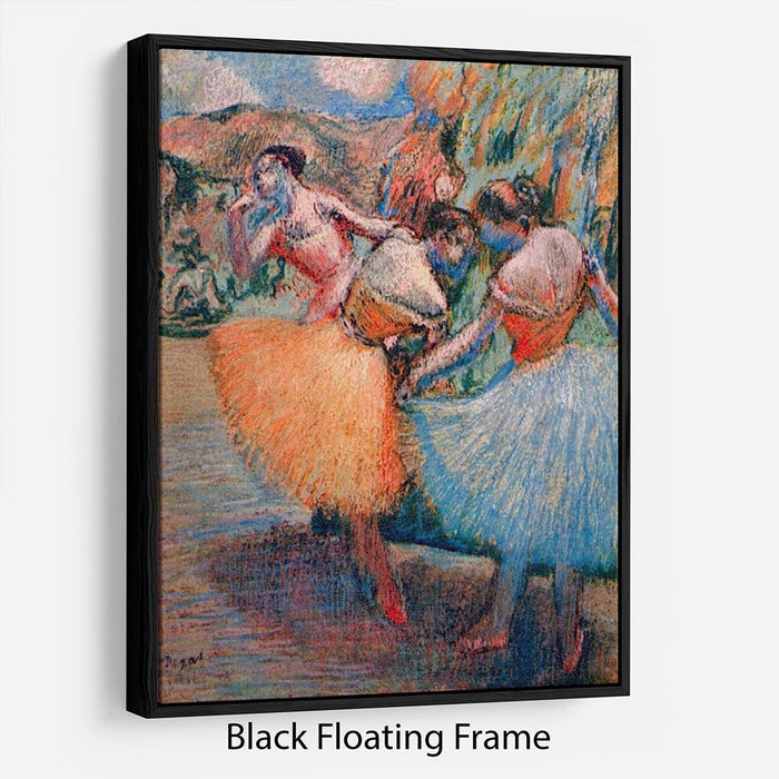 Three dancers 1 by Degas Floating Frame Canvas