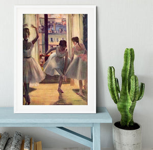 Three dancers in a practice room by Degas Framed Print - Canvas Art Rocks - 5