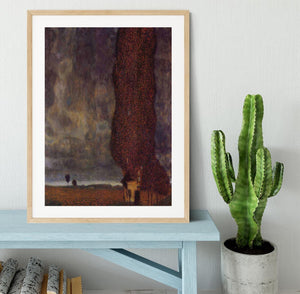 Thunderstorm by Klimt Framed Print - Canvas Art Rocks - 3