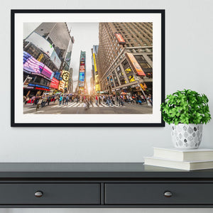 Times Square at sunset Framed Print - Canvas Art Rocks - 1