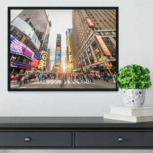 Times Square at sunset Framed Print - Canvas Art Rocks - 2