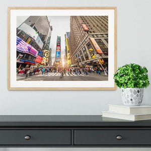 Times Square at sunset Framed Print - Canvas Art Rocks - 3