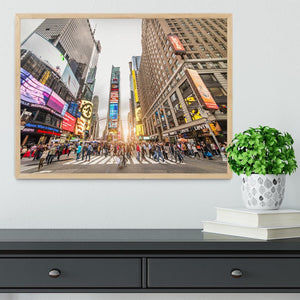 Times Square at sunset Framed Print - Canvas Art Rocks - 4
