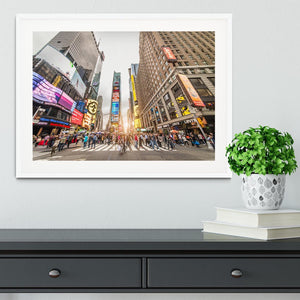 Times Square at sunset Framed Print - Canvas Art Rocks - 5