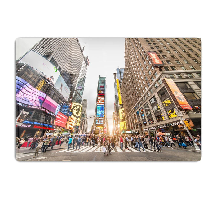 Times Square at sunset HD Metal Print