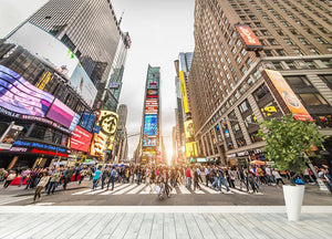 Times Square at sunset Wall Mural Wallpaper - Canvas Art Rocks - 4