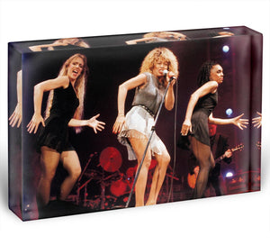 Tina Turner on stage Acrylic Block - Canvas Art Rocks - 1