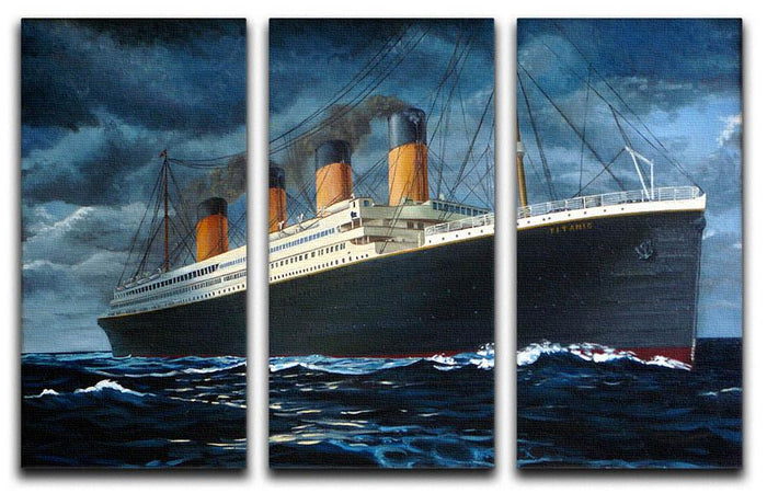 Titanic 3 Split Panel Canvas Print