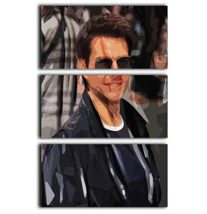 Tom Cruise Mission Impossible 3 Split Panel Canvas Print - Canvas Art Rocks - 1