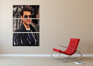 Tom Cruise Mission Impossible 3 Split Panel Canvas Print - Canvas Art Rocks - 2