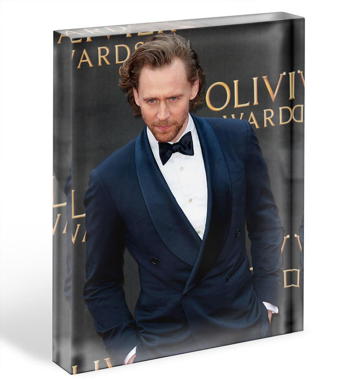 Tom Hiddlestone Acrylic Block