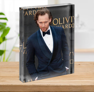 Tom Hiddlestone Acrylic Block - Canvas Art Rocks - 2