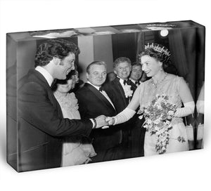 Tom Jones meets The Queen Acrylic Block - Canvas Art Rocks - 1
