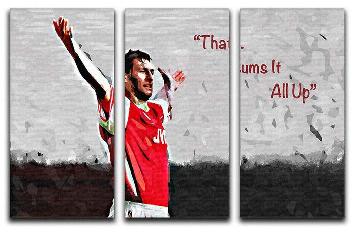 Tony Adams That Sums It All Up 3 Split Panel Canvas Print